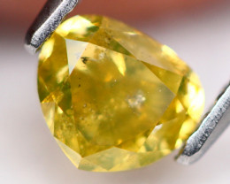 1.0Ct Fancy Yellow Color Natural Diamond TR22