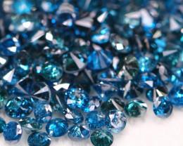 9.09Ct Fancy Vivid Blue Natural Diamond Parcel Lot BM73