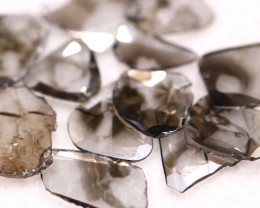 2.66Ct Fancy Grey Natural Diamond Slices BM75