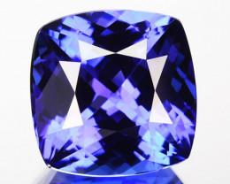 FLAWLESS 13.74 Cts SPARKLING NATURAL AAA BLUE TANZANITE GEM