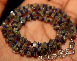 29 Crt Natural Ethiopian Welo Smoked Uncut Opal & Lapis Lazuli Beads 9