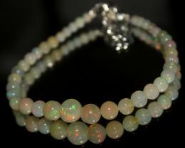 18 Crt Natural Ethiopian Welo Fire Opal Balls Bracelet 21