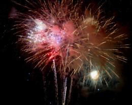 Fourth of July fireworks, Kailua Kona, Hawaii.