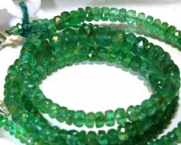 48.40- CTS EMERALD BEADS STRAND PG-2593