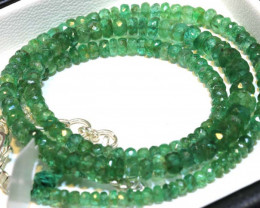 56- CTS-16 INCH- EMERALD BEADS STRAND PG-2594
