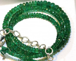 52.60- CTS EMERALD BEADS STRAND PG-2595