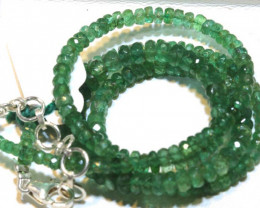 55.60- CTS- 16 INCH - EMERALD BEADS STRAND PG-2598