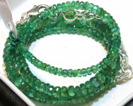 55.50- CTS-16 INCH- EMERALD BEADS STRAND PG-2600