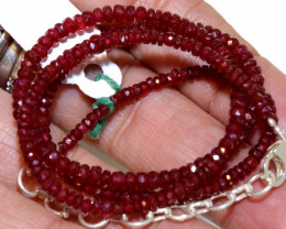 47.65 CTS  - RUBY BEADS STRAND  PG-2603