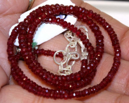44.25 CTS  - RUBY BEADS STRAND  PG-2608