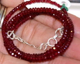 44.20 CTS  - RUBY BEADS STRAND  PG-2609