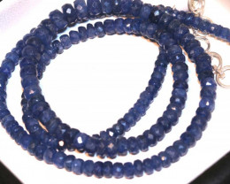 73.45 CTS -SAPPHIRE BEADS STRAND  PG-2615