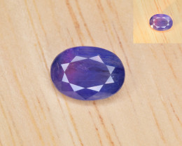 Natural Color Changing Sapphire 1.42 Cts from Afghanistan