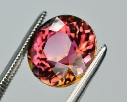 Incredible Color 6.20  Ct Bi Color Watermelon Tourmaline From Afghanistan