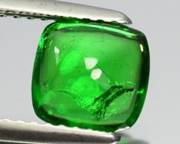 ~LOVELY~ 1.53 Cts Natural Tsavorite Garnet Bottle Green Kenya Sugarloaf