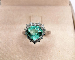 1,29ct Colombian Emerald 18k Solid Gold Ring Colombian Emeralds Colombian E