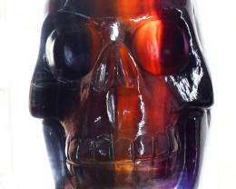 Genuine 1280.0 Cts Multicolor Fluorite Skull