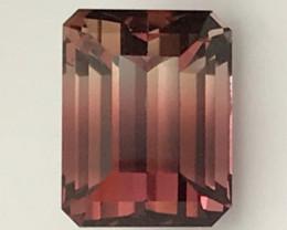 3.35ct Distict Color Split Bi Color Tourmaline  - Afghanistan - H623