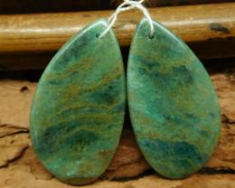 natural gemstone chrysocolla earring pairs (G0852)