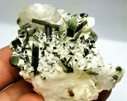 Amazing damage free Bicolor Tourmaline with Quartz 257Cts-Pak