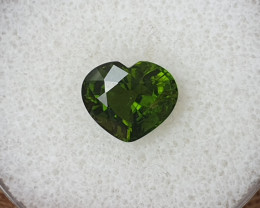 3,64ct Green Tourmaline - Heart cut!