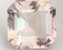 Large 26cts Glowing Modified  Asscher Cut Baby Pink Fluorite - Pakistan H67
