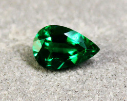 0.66 ct Top Zambian Emerald Certified!