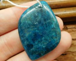 Blue apatite pendant bead (G0863)