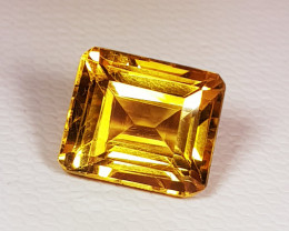 4.20 ct Top Quality Gem Square Mix Cut Top Luster Natural Citrine