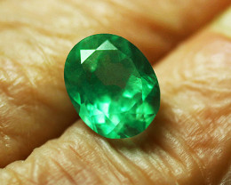 1.50 ct Stunning Absolute High-End Zambian Emerald Certified!