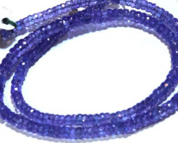 98.45-CTS TANZANITE FACETED  BEADS STRAND PG-2617