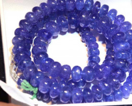 258-CTS TANZANITE FACETED  BEADS STRAND PG-2621