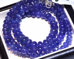 243.85-CTS TANZANITE FACETED  BEADS STRAND PG-2622