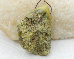 Beautiful Raw Serpentine ,Handmade Gemstone ,Serpentine Stone D605