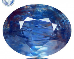 AIG CERTIFIED AMAZING 100% NATURAL UN-HEATED BLUE SAPPHIRE - 2.72 ct