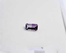 Amethyst Gemstone with Unique 50/50 Color split