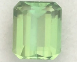 Pretty Mint Green Emerald Cut Tourmaline - Afghanistan Ref 2234
