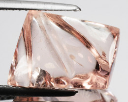 ~EXCELLENT~ 7.78 Cts Natural Peach Pink Morganite Fancy Cut Brazil