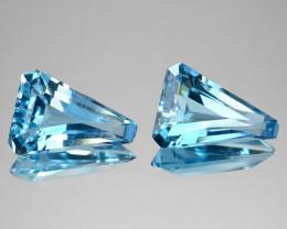 5.95 Cts Natural Blue Topaz Fancy Cut Pair