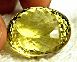 62.8 Carat Vibrant AfricanVVS Lemon Quartz - Gorgeous