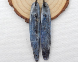 77.5cts 2pcs Blue kyanite necklace ,natural kyanite pendants ,healing stone