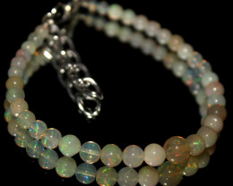 19 Crt Natural Ethiopian Welo Fire Opal Balls Bracelet 22