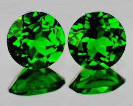 4.00 mm Round 2 pcs Chrome Green Diopside [VVS]