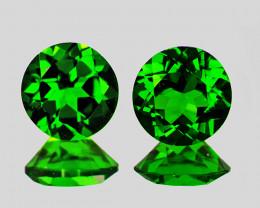 4.50 mm Round 2 pcs Chrome Green Diopside [VVS]