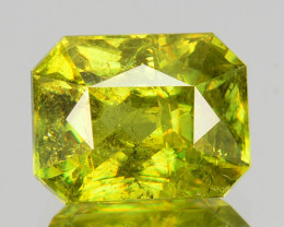 2.49 Cts Natural Olive Green Sphene Radiant Cut Russian