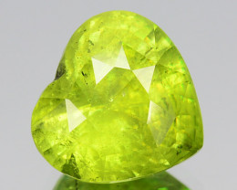 ~PRETTY~ 3.70 Cts Natural Radium Green Sphene Heart Cut Russian
