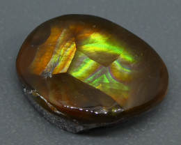 5.89ct Mexican Fire Agate Freeform-$1 NR Auction