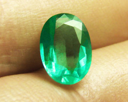 1.26 ct Top Of The Line Zambian Emerald Certified!