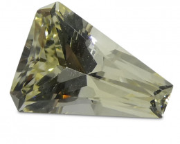 0.85ct Yellow Sapphire Cut Corner Trillion