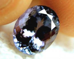 CERTIFIED - 4.296 Carat IF/VVS1 Violet Blue Tanzanite - Superb